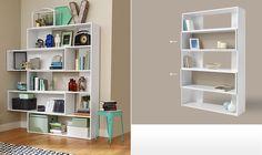 Variálható polcos szekrény  63995ft Bookshelf Design, Bookshelves, Bookcase, Home Furnishings, Shelving, Living Room, Home Decor, Line, Shelves