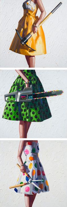 Feminist art - Kelly Reemtsen's Painterly Juxtapositions of Chic Dresses and Power Tools Showcase Modern Femininity – Feminist art Metal Tree Wall Art, Metal Art, Illustration Mode, Illustrations, Feminist Art, Feminist Quotes, A Level Art, Gcse Art, Arte Pop