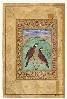 Deux perdreaux   Paris, musée du Louvre-16e siècle Inde (période) - Empire moghol (1526-1857)