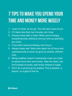 7 tips to spend money and time wisely life tips Life Advice, Good Advice, Life Tips, Self Development, Personal Development, Life Skills, Life Lessons, Def Not, Self Improvement Tips
