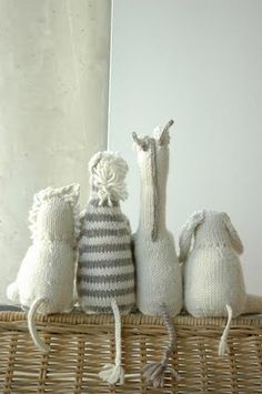 Knitted safari animal patterns