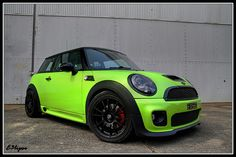 Lime Green Mini Cooper
