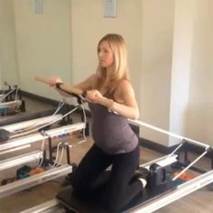 Love this chest press! use a blue and white spring or just one blue for…