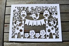 Giraffe and Bird Papercut Template, SVG Cutting File and PDF Printable File, Instant Download, Small Commercial Use OK by DigitalGems on Etsy