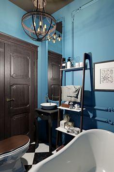 Ванная комната. Интерьер квартиры 40 кв.м. в Мурманске