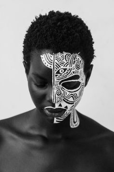 The French and Senegalese visual artist challenges notions of race and gender through her collage and masked portrait series.