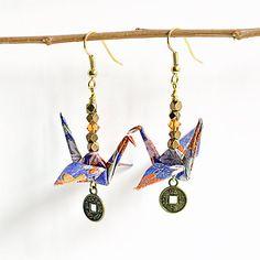 Boho EarringsOrigami EarringsGifts for by LittleBirdDePapel