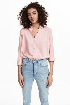 Viscose shirt - Old rose - Ladies | H&M GB 1