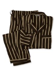 silk twill striped pajamas by WinterSilks