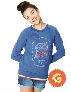 Letter G. Elle Sweatshirt 91231 Sweatshirts at Boden Boden Clothing, Cute Boy Outfits, Kids Fashion, Fashion Outfits, Back To School Outfits, Mini Boden, Our Girl, Cute Boys, Graphic Sweatshirt