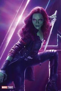 Zoe Saldana as Gamora: Avengers: Infinity War Character Posters Marvel Avengers, Marvel Comics, Films Marvel, Avengers Film, Marvel Women, Marvel Heroes, Gamora Marvel, Female Avengers, War Comics