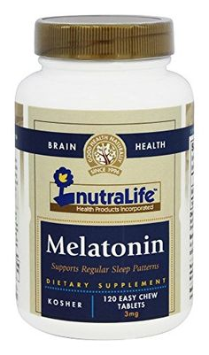 NutraLife Kosher Melatonin 3 Mg Chewable Strawberry Flavor 120 Tablets >>> You can find more details by visiting the image link.