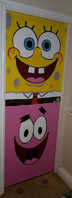 Spongebob and Patrick Bedroom Door by Smogmonkey