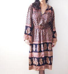 Vintage 60's Cotton India Gypsy Hippie BoHo by DorisVintage