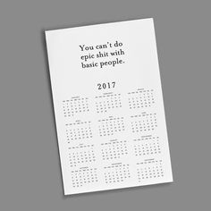 11x17 Wall Calendar - Basic People
