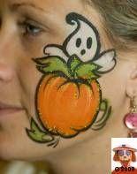 pumpkin cheek face painting - Google Search