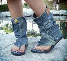 Chinelos jeans