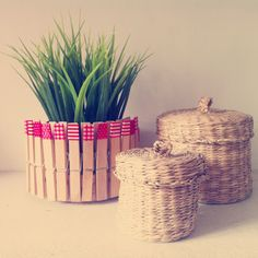 Raccoccó: Tiesto DIY Craft Corner, Wicker Baskets, Diy Crafts, Crafty, Home Decor, Homemade, Manualidades, Decoration Home, Room Decor
