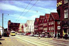 Hordaland fylke Bergen Bryggen 1968