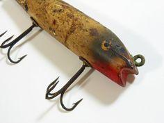 Vintage Wooden Fishing Lure Creek Chub Darter