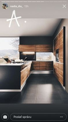 Stunning The Wood Interior in This Split Level House in South Jakarta is Fantastic! - New ideas Kitchen Room Design, Kitchen Cabinet Design, Modern Kitchen Design, Home Decor Kitchen, Modern House Design, Interior Design Kitchen, Wood Interiors, Cuisines Design, Design Case