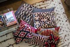 Coussin Ikat via Goodmoods by Les Ottomans