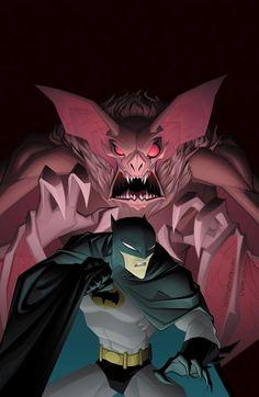 Batman vs Man-Bat by Jeff Matsuda