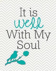 It Is Well With My Soul by mastomama on Etsy, $15.00
