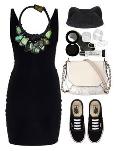 """""""T by Alexander Wang stretched dress"""" by thestyleartisan ❤ liked on Polyvore featuring T By Alexander Wang, Vans, Marie Mercié, Glo Minerals, rag & bone, Pieces, Torrid and silverjewelry"""
