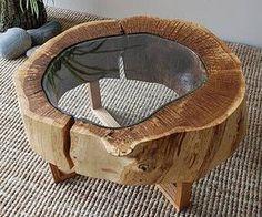 Ein Tischchen zum Verlieben! #holz #glas #natur