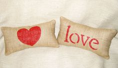 Valentine Pillows Valentine's Day pillow Heart by sherisewsweet