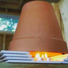 Mit diesem Terracottatopf-Trick machst du's dir warm. | 17 Lifehacks, mit denen du den Winter leichter überstehst