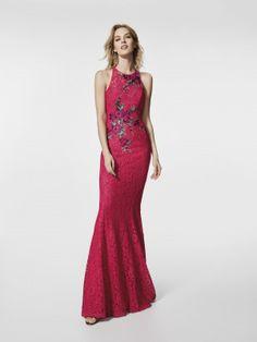 Foto vestido de fiesta rosa (62026)