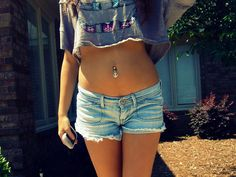 Adorable belly button ring!