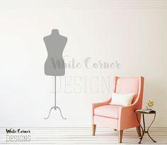 rta226 Mannequin Body Form Female Dress Fashion Style Salon Modern Living Room Bedroom Wall Decal Vinyl Sticker Decals Art Decor Design