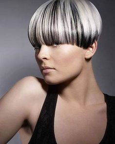 Lovely bowlcut on highlighted hair Short Wedge Hairstyles, Short Hairstyles For Women, Cool Hairstyles, Short Hair Cuts, Short Hair Styles, Pixie Styles, Pageboy Haircut, Stylish Haircuts, Coloured Hair