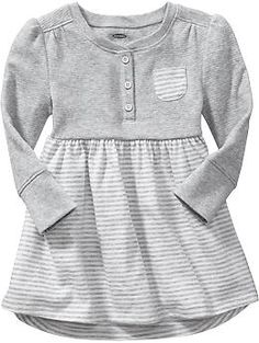 Mixed Waffle-Knit Tee Dresses for Baby