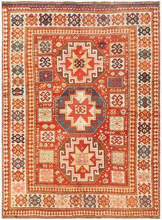 Antique Tribal Kazak Rug 50291