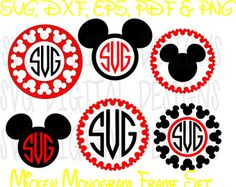 Disney Svg Mickey Mouse Monogram Svg Clipart - Disney Cut files, Mouse Die Cuts - Svg Dxf Eps Pdf Png Disney files for Silhouette, Cricut banner library stock Disney Monogram, Cricut Monogram, Monogram Frame, Cricut Banner, Cricut Fonts, Mickey Mouse, Mickey Ears, Disney Silhouettes, Clip Art
