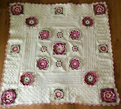 Love this version of the Lily Pond Blanket - Pattern by Janie Crow