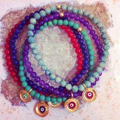 Evil Eye Bracelets www.ten10jewelry.etsy.com
