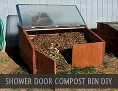 File this one in the genius repurposing file! Use old shower doors as part of your outdoor compost bin. The glass door works as a great lid and allows you to see inside an observe your compost. Having a lid installed on our compost bin has two main advantages. First, the lid will help contain …