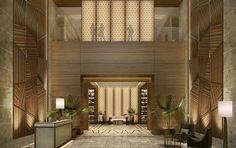Hotel Lobby designed by BBG-BBGM.  Principles of Interior Design Balance