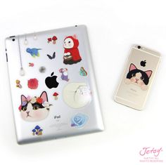 Shop premium fashion and gifts featuring the dreamy-eyed Choo Choo Cats of Jetoy. Great gifts for cat lovers, including beautiful stationery and planners. Cat Lover Gifts, Cat Gifts, Cat Lovers, Cat Stickers, Laptop Stickers, Glossier Stickers, Stationery, How To Remove, Kawaii