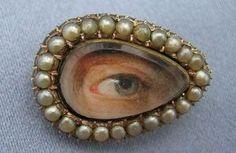 Victorian lovers eye brooch