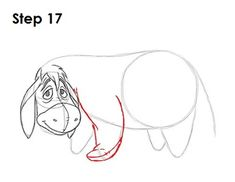 Learn how to draw Eeyore from Walt Disney's Winnie-the-Pooh tutorial and video. A new cartoon drawing tutorial is uploaded every week, so stay tooned! Winnie The Pooh Drawing, Disney Winnie The Pooh, Drawing Cartoon Characters, Cartoon Drawings, Cartoon Drawing Tutorial, Project Life Cards, Create Website, Disney Drawings