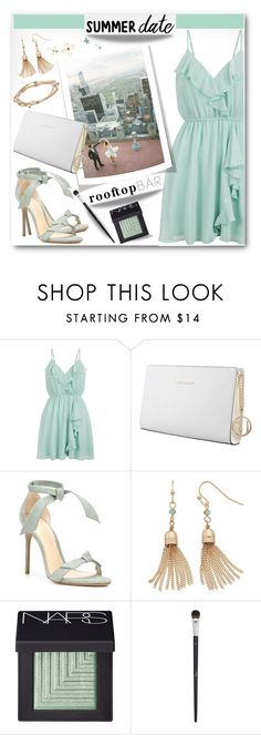"""""""Summer Date: Rooftop Bar"""" by brendariley-1 ❤ liked on Polyvore featuring New Look, Trussardi, Alexandre Birman, LC Lauren Conrad, NARS Cosmetics, Christian Dior, summerdate and rooftopbar"""