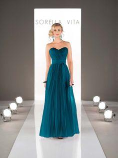 Strapless teal bridesmaid dress from Sorella Vita Bridesmaid Dress Colors 25aebc704f21