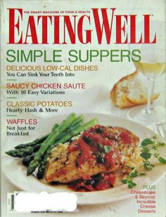 Eating Well Magazine, Simple Supper Recipes, Vol. VIII No. 2 March 1998