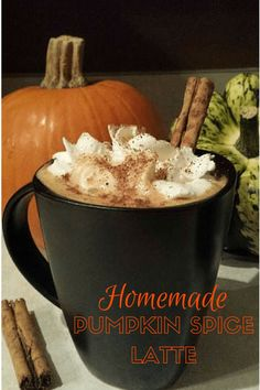 Making your own pumpkin spice latte is easy (and cheap) with the IMUSA Espresso Maker. This recipe tastes better than any coffee shop's version! My Favorite Food, Favorite Recipes, Homemade Pumpkin Spice Latte, Skinny Recipes, Coffee Recipes, Yummy Drinks, Baking Recipes, The Best, Good Food